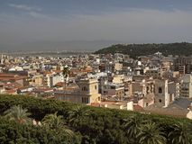 Cagliari, view from the old town, Sardinia, Italy Royalty Free Stock Photos