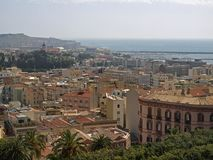 Cagliari, vue de la vieille ville, Sardaigne, Italie images libres de droits