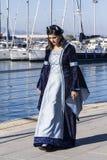 CAGLIARI WŁOCHY, Październik, - 29, 2016: Invitas, nabrzeże Porto, Sardinia tradycje, występy i jedzenie, Zdjęcie Stock