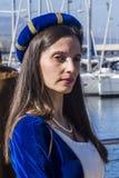 CAGLIARI WŁOCHY, Październik, - 29, 2016: Invitas, nabrzeże Porto, Sardinia tradycje, występy i jedzenie,  Zdjęcia Stock