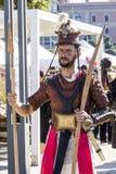 CAGLIARI WŁOCHY, Październik, - 29, 2016: Invitas, nabrzeże Porto, Sardinia tradycje, występy i jedzenie, Zdjęcia Royalty Free