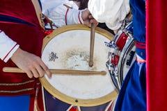 CAGLIARI WŁOCHY, Październik, - 29, 2016: Invitas, nabrzeże Porto, Sardinia tradycje, występy i jedzenie, - Sardinia Fotografia Royalty Free