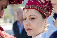 CAGLIARI WŁOCHY, Październik, - 29, 2016: Invitas, nabrzeże Porto, Sardinia tradycje, występy i jedzenie, - Sardinia Zdjęcie Stock