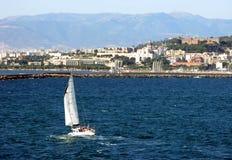 Cagliari wyspa kapitałem jest Sardinia Włochy Zdjęcia Royalty Free
