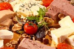 Caglio del formaggio e del patè Fotografie Stock