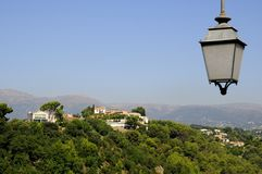 Cagnes Sur Mer. General view of Cagnes sur mer in nice france Royalty Free Stock Photos