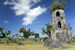 Cagsawa church ruins mayon volcano philippines Stock Photos