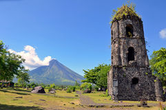 Cagsawa Church Ruins. In the Philippines stock image