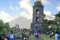 Cagsawa Ruinen Lizenzfreies Stockfoto