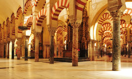 Cahedral-Mosque of Cordoba, in Spain Royalty Free Stock Image