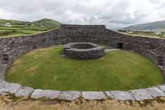 Cahergall Stone Fort - Cahirsiveen - Ireland Royalty Free Stock Photography