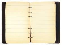 cahier antique ouvert Photos libres de droits