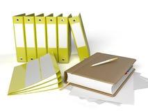Cahier avec des cahiers Photos stock