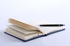 Cahier avec le crayon Image stock