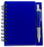 Cahier avec le crayon lecteur Image stock