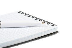 Cahier avec le plan rapproché de crayon lecteur Photographie stock libre de droits