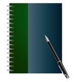 Cahier avec un crayon lecteur Images stock