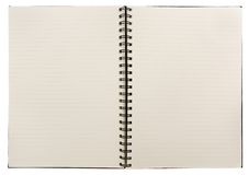 Cahier blanc Photographie stock