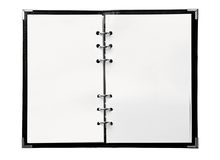 Cahier blanc Photos stock