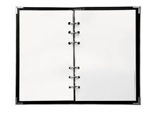 Cahier blanc Photos stock