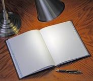 Cahier blanc Photographie stock libre de droits