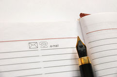 Cahier blanc Image stock