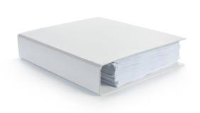 Cahier blanc blanc Image libre de droits