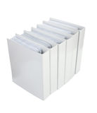 Cahier blanc de bureau Photos stock