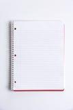 cahier blanc de bureau Images libres de droits