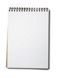 Cahier blanc de livre blanc Images stock