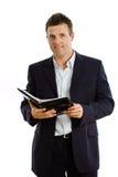 cahier d'homme d'affaires photographie stock