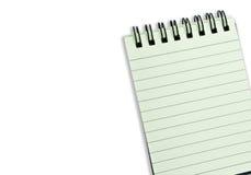 cahier de cahier avec le papier rayé Photographie stock