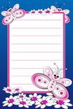 Cahier de gosse avec la page rayée blanc Photographie stock libre de droits