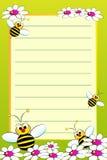 Cahier de gosse avec la page rayée blanc Photographie stock