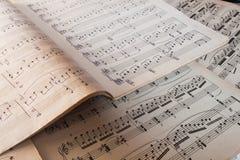 Cahier de musique Image libre de droits