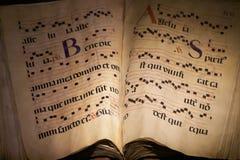 Cahier de musique antique Photographie stock libre de droits