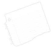 Cahier de papier Photographie stock libre de droits