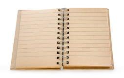 Cahier de papier réutilisé Images libres de droits