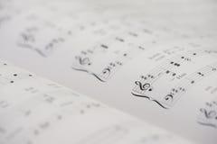 Cahier de piano photographie stock