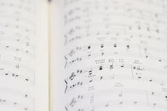 Cahier de piano photos libres de droits