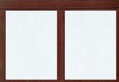 Cahier en cuir. Photographie stock libre de droits
