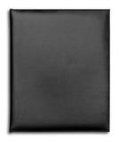 Cahier en cuir noir de cas d'isolement Image stock
