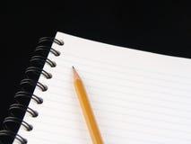 Cahier et crayon Photo libre de droits