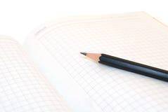 Cahier et crayon Image libre de droits