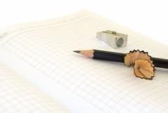 Cahier et crayon Image stock