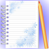Cahier et crayon Illustration Stock