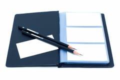 Cahier et crayon (chemin de découpage) Images stock