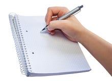 Cahier et crayon lecteur Photos libres de droits