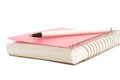 Cahier et crayon lecteur de boucle Images libres de droits
