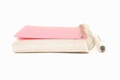Cahier et crayon lecteur de boucle Photo libre de droits
